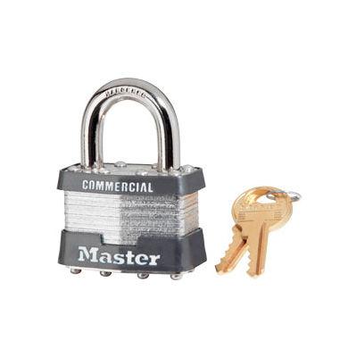 """Master Lock® No. 1KA Keyed Padlock - 15/16"""" Shackle - Keyed Alike - Pkg Qty 24"""