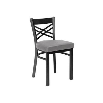 Fabric Cross Back Chair Gray