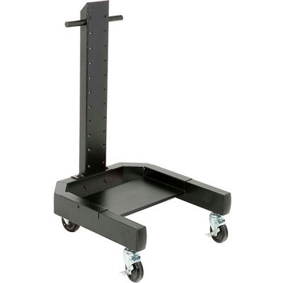 """Global Industrial™ 40""""H Mobile Post with Caster Base - Black"""