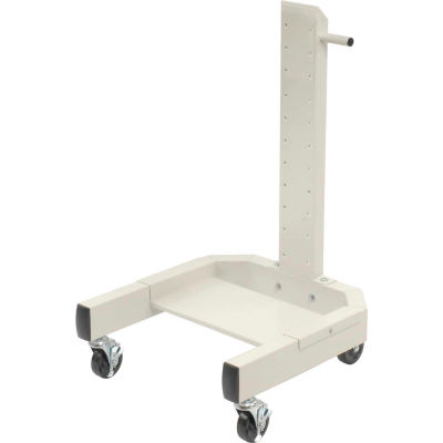 """Global Industrial™ 40""""H Mobile Post with Caster Base - Beige"""