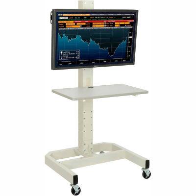 Global Industrial™ LCD/Plasma Mobile Cart - Beige