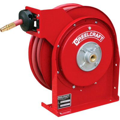 "Reelcraft 4625 OLP 3/8""x25'  300 PSI Premium Duty All Steel Spring Retractable Compact Hose Reel"