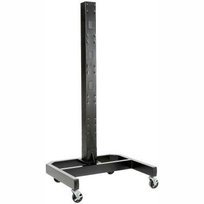 "Global Industrial™ 78""H Mobile Post with Caster Base - Black"