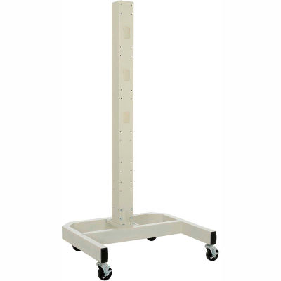 "Global Industrial™ 78""H Mobile Post with Caster Base - Beige"