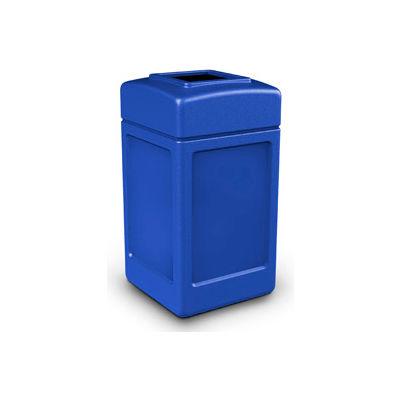 42 Gallon Square Waste Receptacle, Blue - 732104