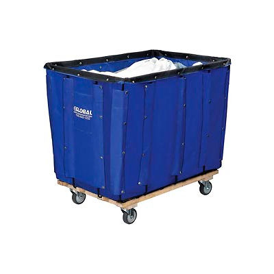Global Industrial™ Best Value 16 Bushel Blue Vinyl Basket Bulk Truck
