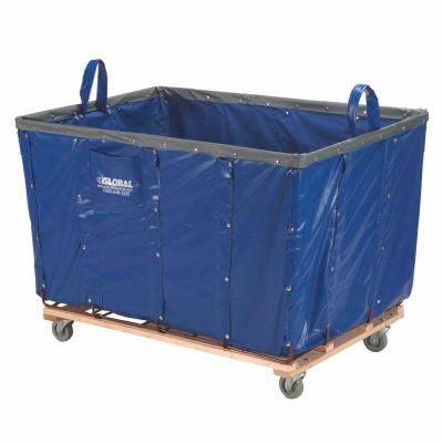 Global Industrial™ Basket Bulk Truck, Vinyl, 24 Bushel Capacity, Blue