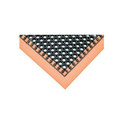"Apache Mills Safety TruTred™ Grit Top Drainage Mat 7/8"" Thick 3' x 10' Black/Orange Border"