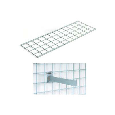 """Global Industrial™ 48""""X12"""" Wire Shelves With Brackets Package Of 2"""
