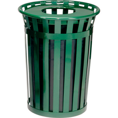 Global Industrial™ Outdoor Metal Waste Receptacle - 24 Gallon Green