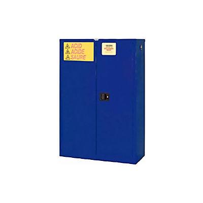"Global Industrial™ Acid Corrosive Cabinet, Self Close Double Door 45 Gallon, 43""W x 18""D x 65""H"