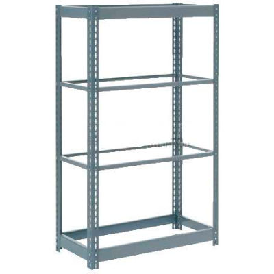 """Global Industrial™ Heavy Duty Shelving 36""""W x 18""""D x 72""""H With 4 Shelves - No Deck - Gray"""