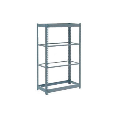"Global Industrial™ Heavy Duty Shelving 48""W x 12""D x 72""H With 4 Shelves - No Deck - Gray"