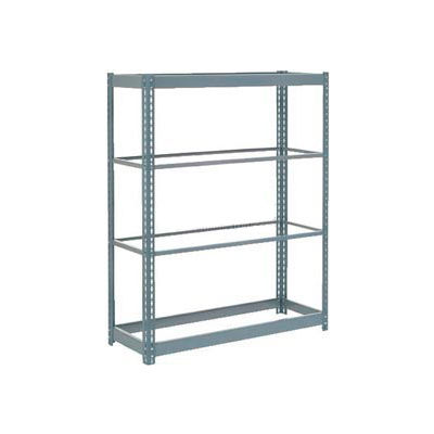 """Global Industrial™ Heavy Duty Shelving 48""""W x 18""""D x 72""""H With 4 Shelves - No Deck - Gray"""