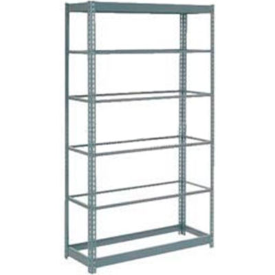 """Global Industrial™ Heavy Duty Shelving 48""""W x 12""""D x 72""""H With 6 Shelves - No Deck - Gray"""