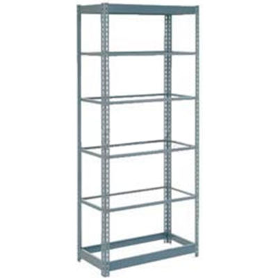 """Global Industrial™ Heavy Duty Shelving 48""""W x 18""""D x 72""""H With 6 Shelves - No Deck - Gray"""