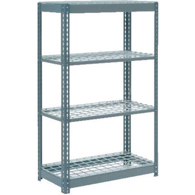 """Global Industrial™ Heavy Duty Shelving 36""""W x 12""""D x 72""""H With 4 Shelves - Wire Deck - Gray"""