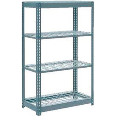 "Global Industrial™ Heavy Duty Shelving 36""W x 18""D x 72""H With 4 Shelves - Wire Deck - Gray"