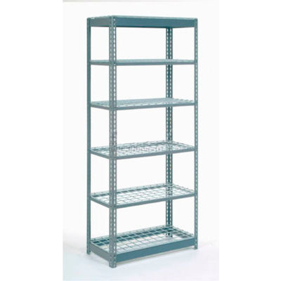 "Global Industrial™ Heavy Duty Shelving 36""W x 12""D x 72""H With 6 Shelves - Wire Deck - Gray"