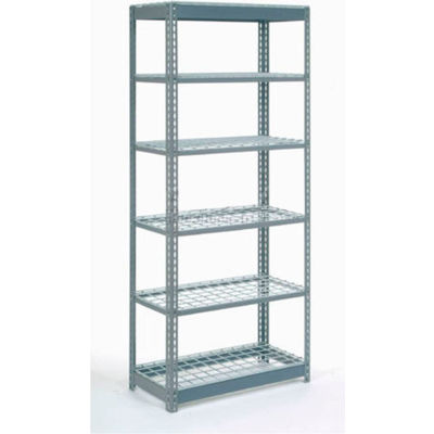 "Global Industrial™ Heavy Duty Shelving 48""W x 24""D x 72""H With 6 Shelves - Wire Deck - Gray"