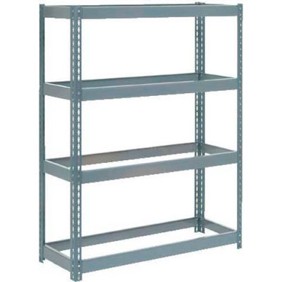 "Global Industrial™ Extra Heavy Duty Shelving 48""W x 24""D x 72""H With 4 Shelves, No Deck, Gray"