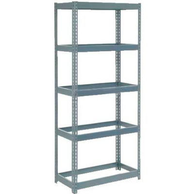 """Global Industrial™ Extra Heavy Duty Shelving 36""""W x 12""""D x 72""""H With 5 Shelves, No Deck, Gray"""