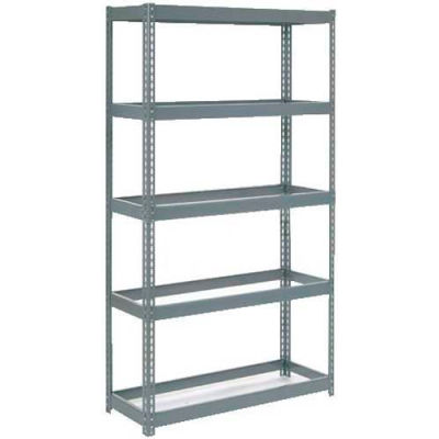 """Global Industrial™ Extra Heavy Duty Shelving 48""""W x 12""""D x 72""""H With 5 Shelves, No Deck, Gray"""