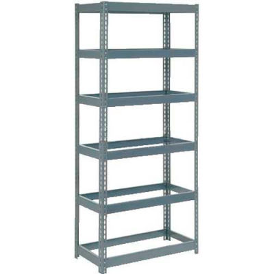 """Global Industrial™ Extra Heavy Duty Shelving 36""""W x 24""""D x 72""""H With 6 Shelves, No Deck, Gray"""