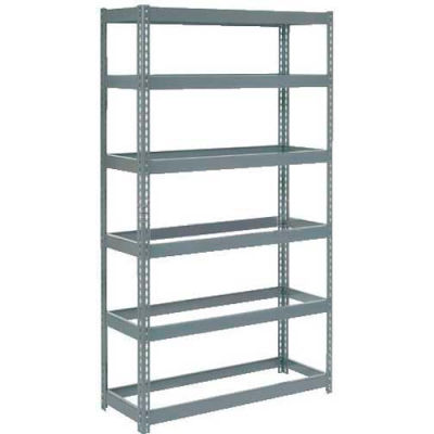 "Global Industrial™ Extra Heavy Duty Shelving 48""W x 24""D x 72""H With 6 Shelves, No Deck, Gray"