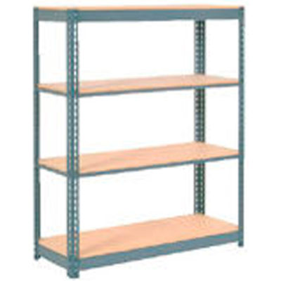 """Global Industrial™ Extra Heavy Duty Shelving 48""""W x 12""""D x 72""""H With 4 Shelves, Wood Deck, Gry"""