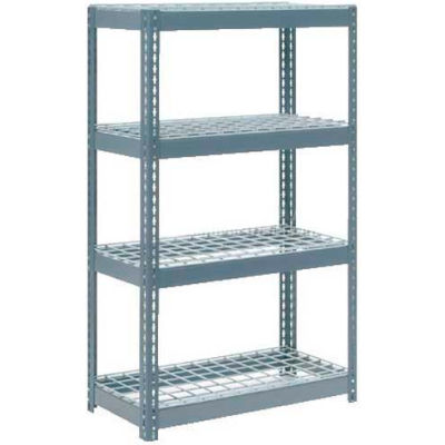 "Global Industrial™ Extra Heavy Duty Shelving 36""W x 18""D x 72""H With 4 Shelves, Wire Deck, Gry"