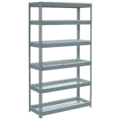 """Global Industrial™ Extra Heavy Duty Shelving 48""""W x 12""""D x 72""""H With 6 Shelves, Wire Deck, Gry"""