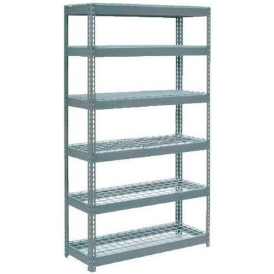 """Global Industrial™ Extra Heavy Duty Shelving 48""""W x 24""""D x 72""""H With 6 Shelves, Wire Deck, Gry"""