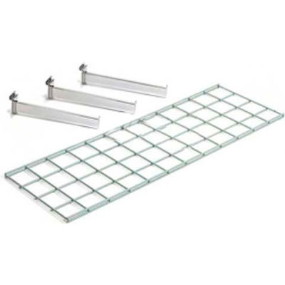 Global Industrial™ Wire Shelf 48 X 12 With 3 Brackets - Pkg Qty 2