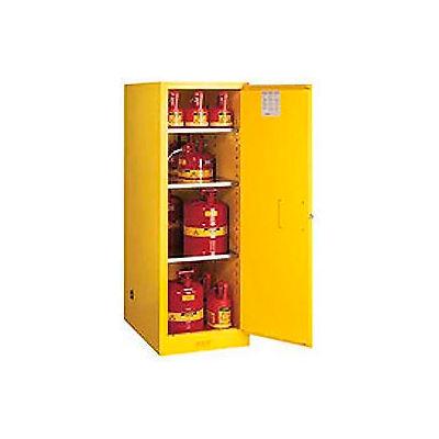 Flammable Liquid Cabinet Self-Close Single Doors Vertical Storage
