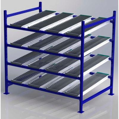 "UNEX FC99SR72484-S Flow Cell Heavy Duty Gravity Rack Starter 72""W x 48""D x 72""H with 4 Levels"