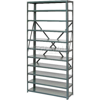 """Open Style Steel Shelf With 11 Shelves No Bins 36""""Wx18""""Dx73""""H Ready To Assemble"""