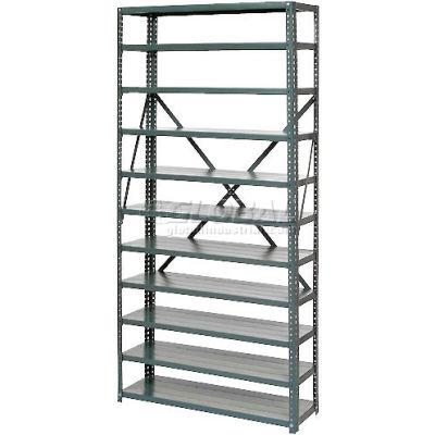"Global Industrial™ Open Style Steel Shelf - 11 Shelves No Bins 36""Wx18""Dx73""H Ready To Assemble"