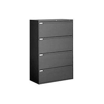 4 Drawer Binder Lateral File Black, Global 4 Drawer Lateral File Cabinet