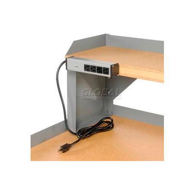 115v, 4 Outlet Power Strip - Gray