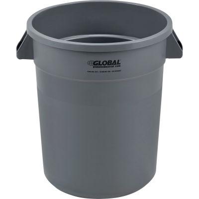 Global Industrial™ Plastic Trash Can - 20 Gallon Gray