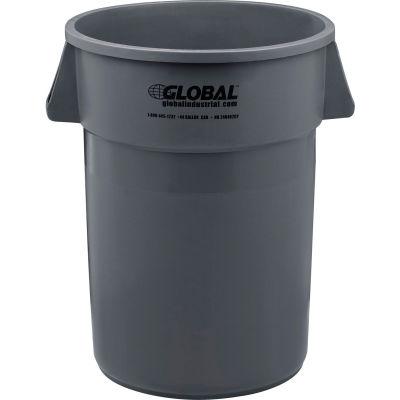 Global Industrial™ Plastic Trash Can - 44 Gallon Gray