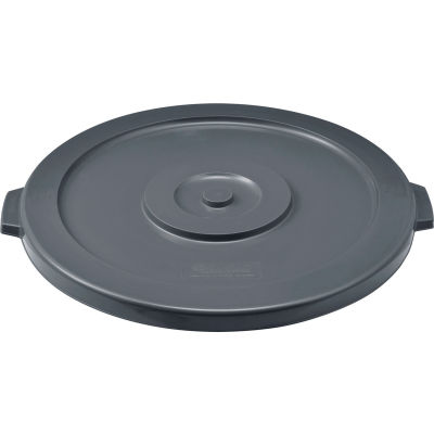 Global Industrial™ Plastic Trash Container Lid, Garbage Can Lid - 44 Gallon Gray