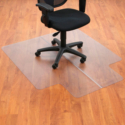 """Office Chair Mat for Hard Floor - 45""""W x 53""""L with 25"""" x 12"""" Lip - Straight Edge"""