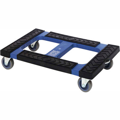 """Global Industrial™ Plastic Container Dolly DLY3018 With Padded Rubber Ledge 30""""L X 18""""W"""