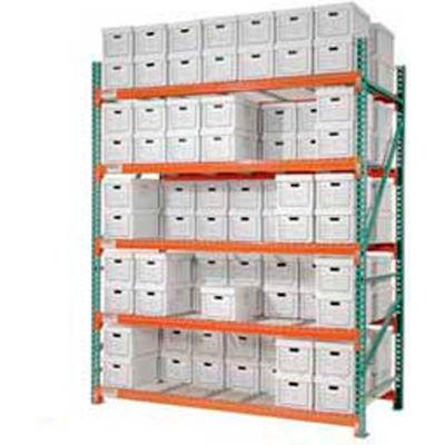 "Global Industrial™ Record Storage Rack Starter Polyethylene Box 96""W x 48""D x 96""H"