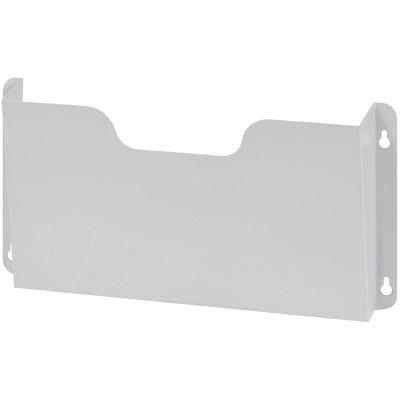Steel Wall File Pockets Letter Size - Platinum