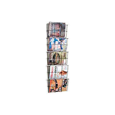 Wire Wall Magazine Rack Letter Size Black 5 Pockets
