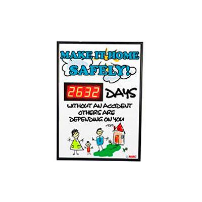 Digital Safety Scoreboard Sign - Make it Home Safely...