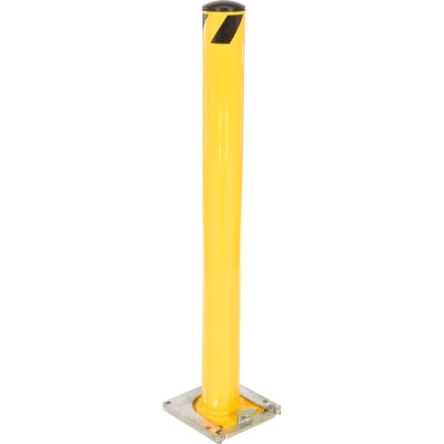 Removable Steel Bollard With Removable Rubber Cap 48 X 4-1/2